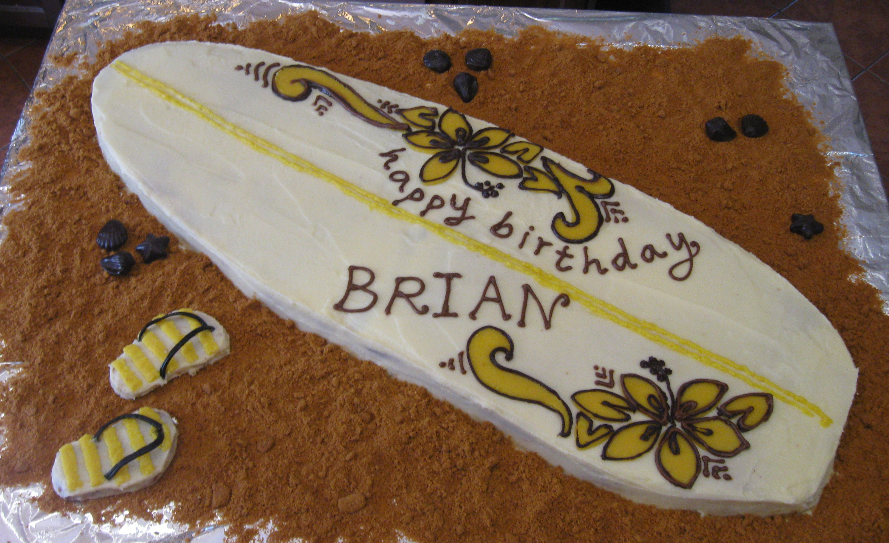 how to make a surfboard cake