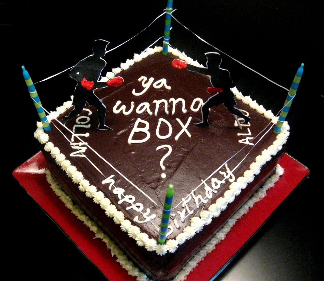 Marvelous Boxing Ring Cake At Bakergoddess Funny Birthday Cards Online Hendilapandamsfinfo